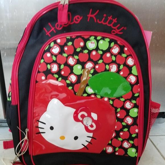 Hello Kitty Big Apple Backpack RARE ba810ca059129